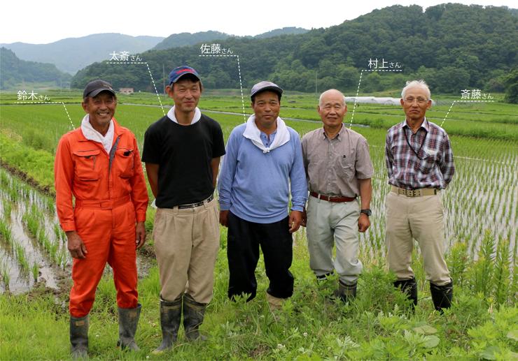 五人の農家
