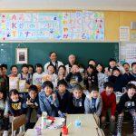 3月3日 白石市内全小・中学校で「ササニシキちらし」